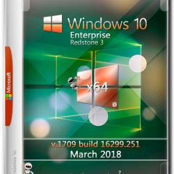 Windows 10 Enterprise x64 RS3 16299.251 March 2018 by Generation2 (MULTi-7/RUS)