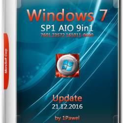 Windows 7 SP1 x86/x64 AIO 9in1 Update 21.12.2016 by 1Pawel (RUS)