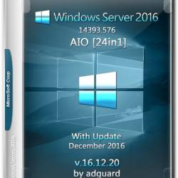 Windows Server 2016 x64 With update AIO 24in1 Adguard v.16.12.20 (RUS/ENG/2016)