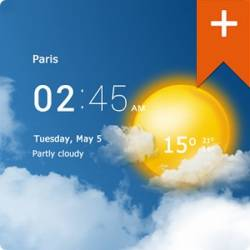 Transparent clock & weather Pro 0.99.01.01
