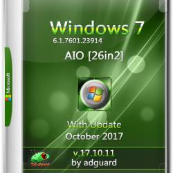 Windows 7 SP1 x86/x64 With Update 7601.23914  AIO 26in2 v.17.10.11 (RUS/ENG/2017)