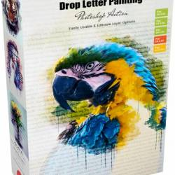 GraphicRiver - Drop Letter Painting Action