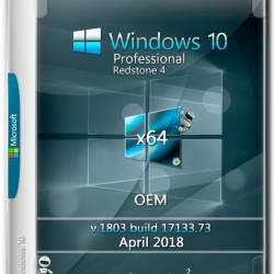 Windows 10 Professional x64 RS4 v.1803 OEM April 2018 by Generation2 (RUS)