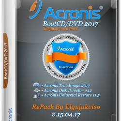 Acronis BootCD/DVD 2017 RePack By Elgujakviso v.15.04.17 (MULTi/RUS)