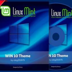 Linux Mint 19 Win10 theme (amd 64) MULTI/RUS/ENG