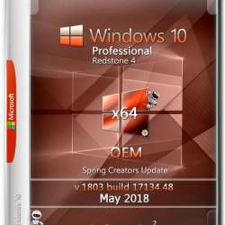 Windows 10 Pro x64 RS4 v.1803 OEM May 2018 by Generation2 (RUS)