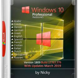 Windows 10 Pro x64 1809.17633.379 by Nicky (MULTi14/ENG/RUS/2019)