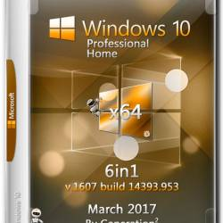 Windows 10 Pro/Home x64 6in1 14393.953 March 2017 by Generation2 (RUS)